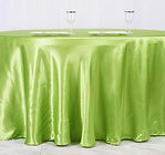 Satin Round Tablecloth Sage Green