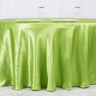 Satin Round Tablecloth Sage Green