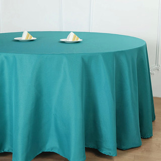 Polyester Round Tablecloth Teal