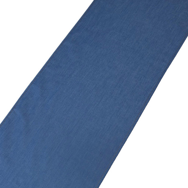 Faux Denim Polyester Table Runner