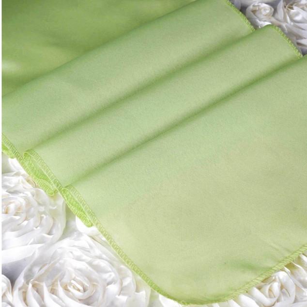Polyester Table Runner Apple Green