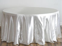 Satin Round Tablecloth Ivory