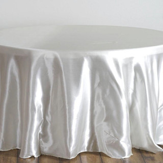 Satin Round Tablecloth Ivory