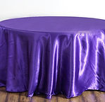 Satin Round Tablecloth Purple