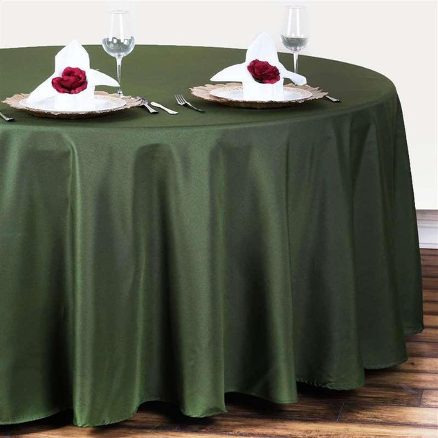 Polyester Round Tablecloth Willow Green