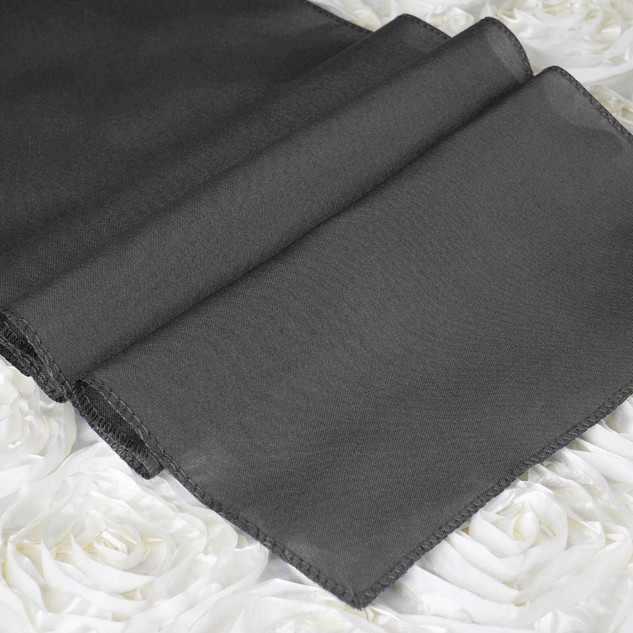 Polyester Table Runner Charcoal