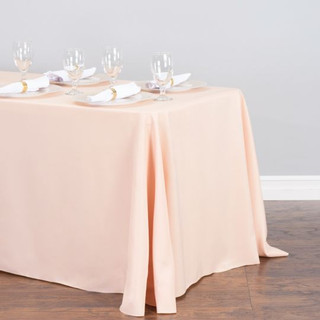 90x156 inch Polyester Tablecloth Pale Blush