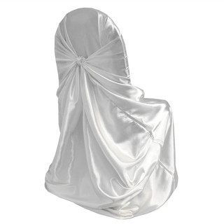 Universal White Satin Chair Cover
