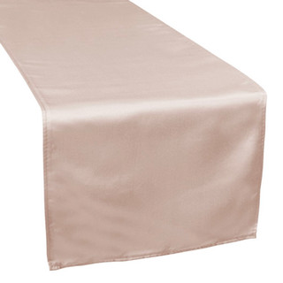 Lamour Satin Table Runner Taupe