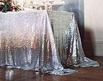 Sequin Rectangle Tablecloth Silver