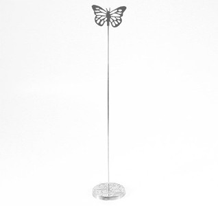 Table Number Holder - Silver Butterfly
