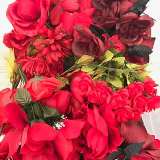 Bulk Flower Heads Red
