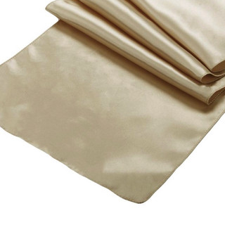 Satin Table Runner Taupe