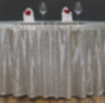 Sequin Round Tablecloth Silver