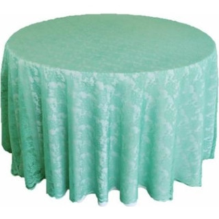 108inch Round Lace Tablecloth Tiffany Blue