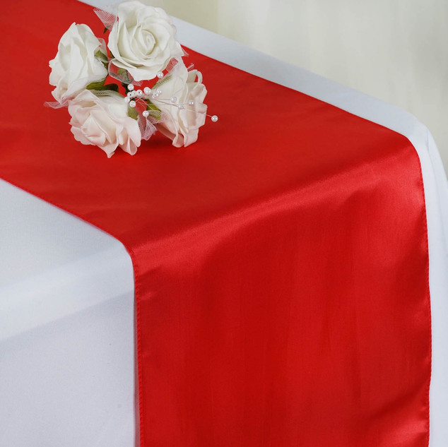 Satin Table Runner  Coral