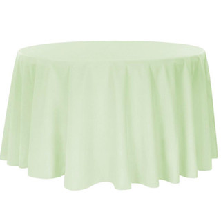 Polyester Round Tablecloth Silver Sage