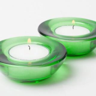 Glass Tealight Holder 3 inch Emerald Green