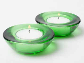 Glass Tealight Holder 3 inch Emerald Gre