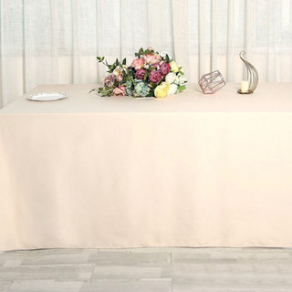 Polyester Rectangle Tablecloth Beige