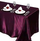 Satin Rectangle Tablecloth Eggplant