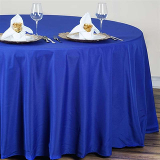 Polyester Round Tablecloth Royal Blue