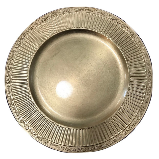 """Acrylic Gold Aztec Charger Plate 13"""""""
