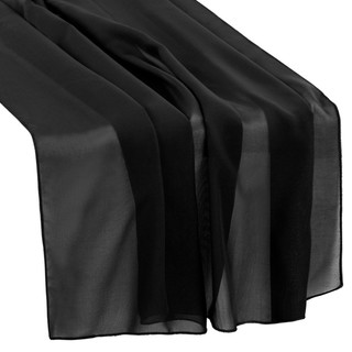 Chiffon Table Runner Black 27x120
