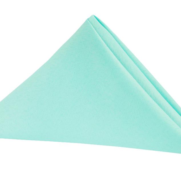 Polyester Napkin with Scalloped Edge Tiffany Blue