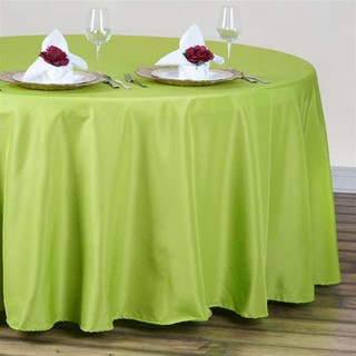 120inch Polyester Round Tablecloth Sage Green
