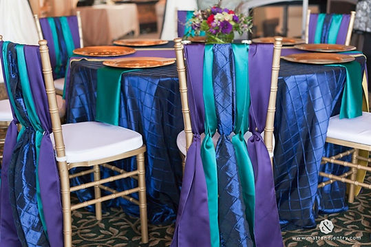 Wedding Sash styling - Multi Sash