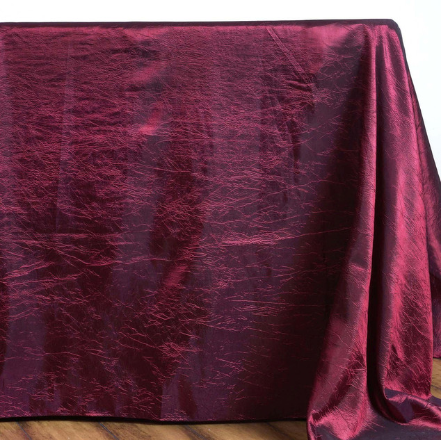 Crinkle Taffeta Tablecloth Burgundy