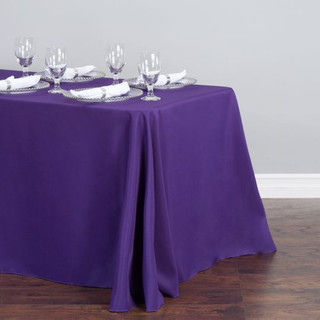 Rectangle Polyester  Tablecloth Purple