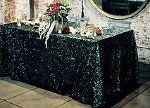 Sequin Rectangle Tablecloth Black