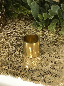 Table Number Holder - Gold Pipe