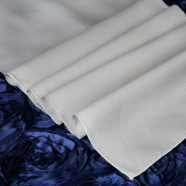 Polyester  Table Runner  Silver