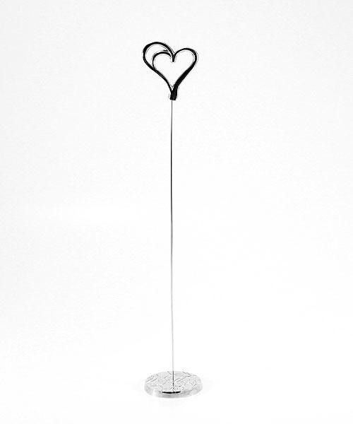 Table Number Holder Gold - Double Heart