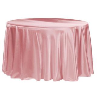 120 Satin Tablecloth Dusty Rose