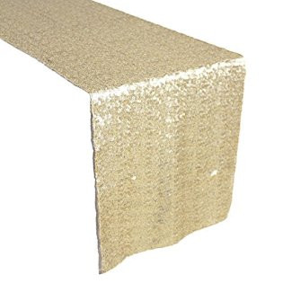Sequin Table Runner  Champagne