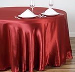Satin Round Tablecloth Wine
