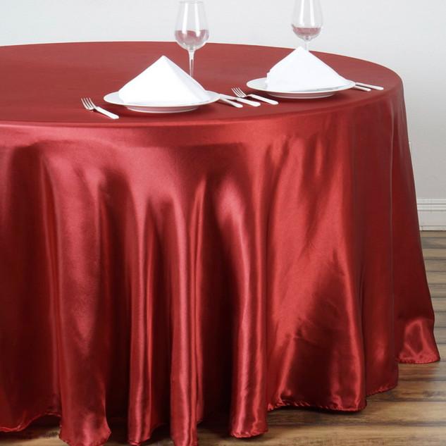 Satin Round Tablecloth Wine