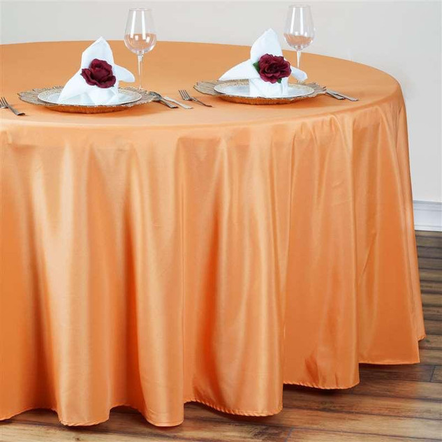 Polyester Round Tablecloth Orange
