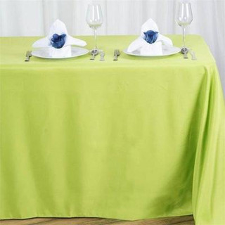90x156 inch Polyester  Tablecloth Sage Green