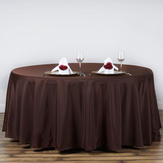 120inch Polyester Round Tablecloth Chocolate