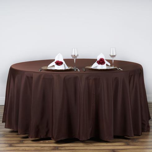 Polyester Round Tablecloth Chocolate