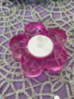 Tealight Holder Pink Daisy.JPG