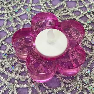 Tealight Holder Pink Daisy