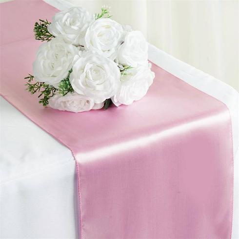 Satin Table Runner  Pink