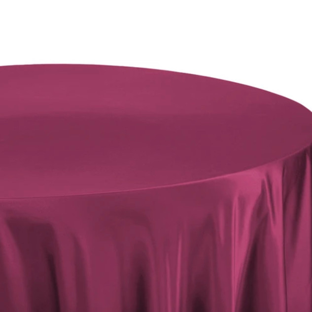 Lamour Satin Round Tablecloth Mulberry