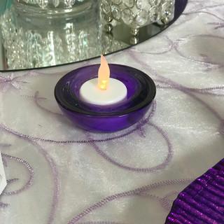 Tealight Holder Round Purple